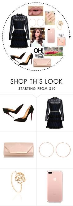 """""""Untitled #119"""" by sam-stanin ❤ liked on Polyvore featuring Christian Louboutin, self-portrait, Dorothy Perkins and Anita Ko"""