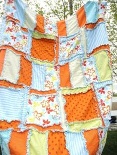 Rag Quilt PATTERN Sewing Rag Car Seat Cover by avisiontoremember