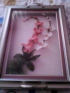 orkide String Art, Diy Flowers, Quilling, Diy And Crafts, Elsa, Cross Stitch, Bouquet, Frame, Pattern