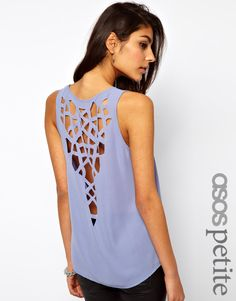 Love this lasercut tank - so pretty for the summer