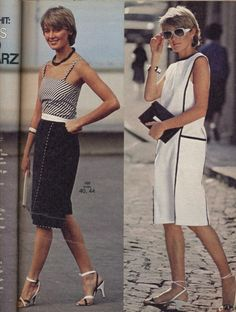 1983 Black and White Dress