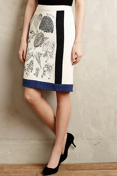 I bought this skirt! What can you find to go with it? Botanical Illustration Skirt#anthropologie