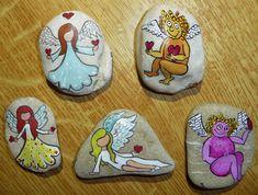 Malování na kameny - andílci (andilci.jpg)