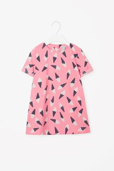 COS image 1 of Ice cream dress in Pink