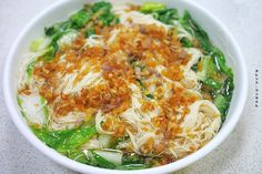 thin noodles with fried garlic | Taiwanese cuisine