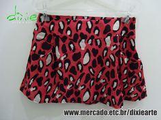 Saia Animal Print  www.elo7.com.br/dixiearte