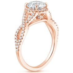 14K Rose Gold Entwined Halo Diamond Bridal Set (2/3 ct. tw.)