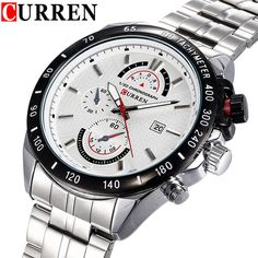 Find More Casual Watches Information about CURREN Brand Full Steel Sport Watch Men Luxury Brand Quartz Military Sport Watches Men's Wristwatch relogio masculino,High Quality sport watch faces,China watch sport gps Suppliers, Cheap sport watch altimeter from Headphone Mart on Aliexpress.com