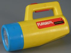I really loved my Playskool flashlight with the changing colors.