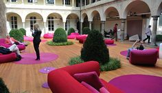 milan design week 2013 installation ' chiostri dell'umanitaria ', where paola lenti presented her interior & exterior furnishings.  (c) azure magazine