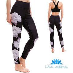 LOTUSX™ Lady Lotus Leggings - Lotus Leggings Compression Pants, Athletic Training, Women's Leggings, Lotus, Joggers, Capri Pants, Bra, Lady, Casual
