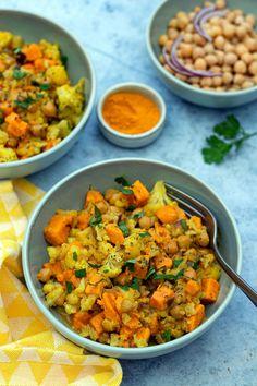 Plat Vegan, Cooking Curry, Dahl, Detox, Recipies, Good Food, Veggies, Nutrition, Healthy