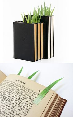 These cute sticky bookmarks make your book look like it's growing a little garden.
