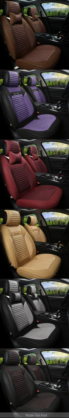 Linen Flax Leather Seat Covers for Fiat 500 Viaggio Linea S Freemont bravo Ottimo 5 Seat Cushion Airbag Seat Protection Rug p151