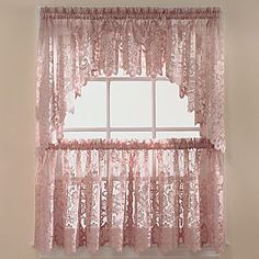 jcp home™ Shari Lace Rod-Pocket Window Tiers - jcpenney - IN Linen color