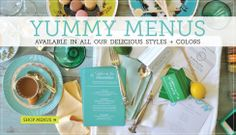 customized wedding menus by delphine