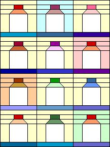 Jar quilt block tutorial: looks like a milk bottle to me! Sweet cream! ;)