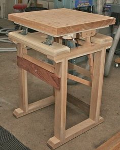 DIY work bench for cutting boards length wise Woodworking Bench