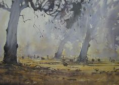 Kai Fine Art is an art website, shows painting and illustration works all over the world. Scenery Paintings, Your Paintings, Landscape Paintings, Oil Painting On Canvas, Painting Frames, Watercolor Paintings, Watercolours, Watercolor Artists, Watercolor Techniques