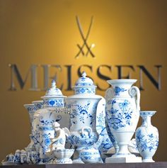 meissen porcelain: Blue Onion