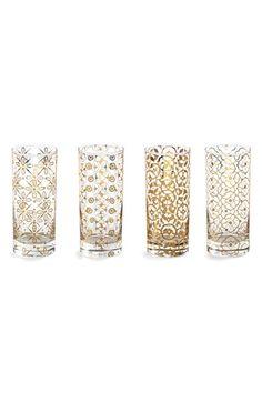 Rosanna 'Kashmir' Highball Glasses (Set of 4) available at #Nordstrom