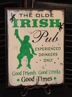 Primitive Irish Pub  Good Friends  St by TheGingerbreadShoppe on Etsy.com