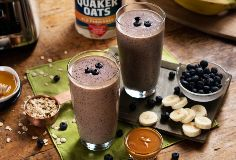 Peanut Butter Banana Berry Oat Smoothie from Quaker®