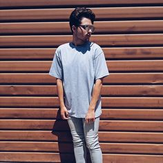 #style #instagram #glasses #spring #summer #2017  #gray #tones #simple #ootd #outfit #shirt #skinny #pants