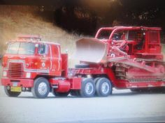 LA County Fire Department Low Loader and Bulldozer Fire Dept, Fire Department, Fire Equipment, Heavy Equipment, Wildland Firefighter, Rescue Vehicles, Old Tractors, Fire Apparatus, Emergency Vehicles