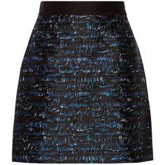 Proenza Schouler Silk-blend jacquard mini skirt (530 CAD) ❤ liked on Polyvore featuring skirts, mini skirts, black, short black mini skirt, multi color skirt, proenza schouler skirt, short skirts and colorful skirts