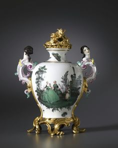 A LOUIS XV VASE BY MEISSEN, ALMOST CERTAINLY MODELLED BY JOHANN JOACHIM KÄNDLER , THE PORCELAIN: MEISSEN, DATE CIRCA 1747. THE GILT BRONZE MOUNTS: PARIS, DATE CIRCA 1750.