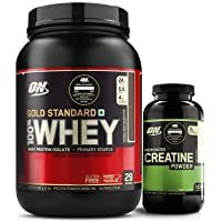 Optimum Nutrition On Gold Standard 100 Whey Protein Powder 2 Lbs 907 G Double Rich Chocolate Micronized Creatine Monohydrate Optimum Nutrition Creatine