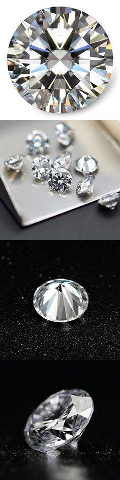 Synthetic Moissanite 110800: Loose Moissanite Stone Near White Color Round Cut Excellent Grade Vvs -> BUY IT NOW ONLY: $38 on eBay!