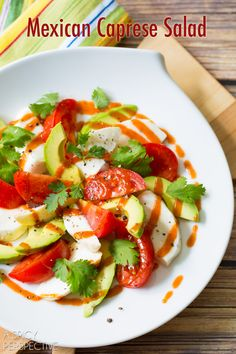 Mexican Caprese Salad! #mexican #caprese #salad
