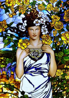 Alphonse Mucha inspired  ROSE | by Stained Glass Painter / Jim M. Berberich