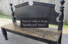 DIY Headboard Bench...http://homestead-and-survival.com/diy-headboard-bench/