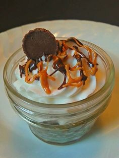 One or Two PEANUT Butter Cup Cupcake in a Jar by bakezerker, $6.00