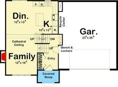 Split-Level Home with Open Floor Plan - 62542DJ floor plan - Main Level