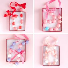 Design Dazzle » Valentine Gumball Necklaces