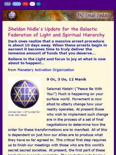 Sheldon Nidle's update for the End of the Cabal and NWO, and the impending announcement of the Prosperity Packages and N.E.S.A.R.A., 8/18/15.