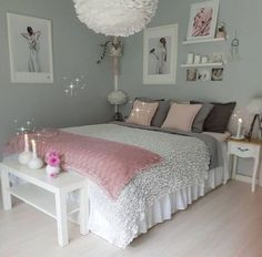 An improved, feminine bedroom that provides an area to remainder, research study. An improved, feminine bedroom that provides an area to remainder, research study or captivate pals in vogue. Pops of pin. Teenage Girl Bedroom Designs, Cool Teen Bedrooms, Awesome Bedrooms, Bedroom Girls, Bedrooms Ideas For Teen Girls, Bedroom Decor For Teen Girls Diy, Beautiful Bedrooms, Trendy Bedroom, Pink Bedrooms