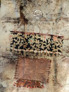 Elizabeth Bunsen: love the idea of layering vintage swatches on each other