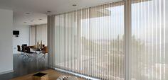 White vertical blinds l  Stores californiens blanc