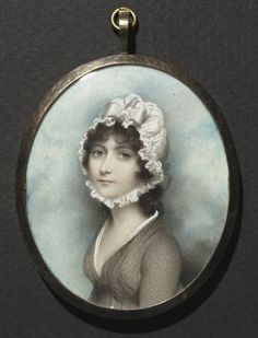 Portrait of a Woman    Andrew Plimer (British, 1763-1837)    Date: late 1790s    Medium: watercolor on ivory    Dimensions: Framed - h:8.50 w:7.20 cm (h:3 5/16 w:2 13/16 inches) Sight - h:8.00 w:6.50 cm (h:3 1/8 w:2 1/2 inches)    Department: European Painting and Sculpture    Type of art work: Portrait Miniature    Credit Line: The Edward B. Greene Collection    Accession No.: 1941.561