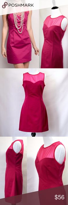 NWT Modcloth Pink Martini Pink Mini Dress New with tag Pink Martini from Modcloth Its pink hue is bold without being Pepto Bismol-bright.  The great thing about this style is that it works for any season  Mini dress Sheer mesh top Zipper back 100% polyester  Hand wash cold Size xs / 4 Modcloth Dresses Mini
