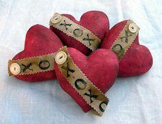 Primitive Valentine Hearts Prim Valentine Hearts by Handofbelapeck, $22.50