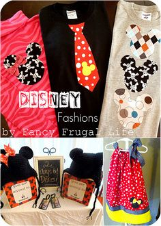 Mickey & Minnie Applique shirts by Fancy Frugal Life