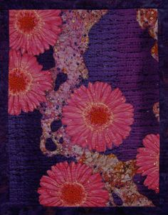 Anemones by Thom Atkins, 2006     3-D Beaded Art Quilt