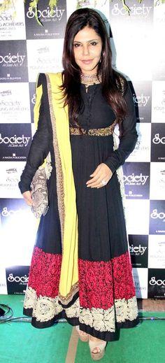 Nisha Jamvwal at the Society Young Achievers Awards 2013. #Fashion #Style #Beauty #Page3