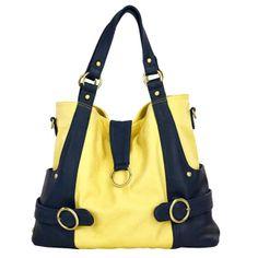 Timi And Leslie Hannah Tote Diaper Bag - Pastel Yellow/Navy | Designer Diaper Bags  www.duematernity.com